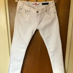 Rock&Roll Cowgirl White Jeans